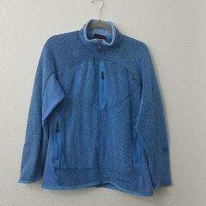 Patagonia womens large coat polartec jacket zipper
